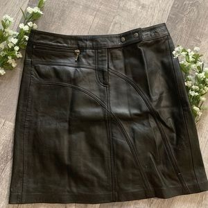 CACHE GENUINE LEATHER SKIRT